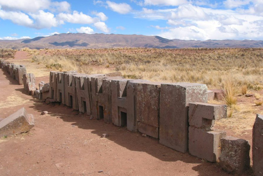The andesite blocks at the Pumapunku site. Image via Heritage Science