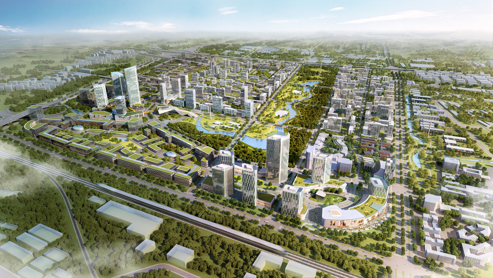 A graphic representation of the Taopu Smart City. Image via BDP