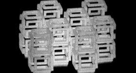 A 3D printed ImpFab scaffold. Image via Ed Boyden et. al.