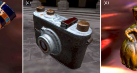 Examples of 3D objects produced in the study. Image via ACM Transactions on Graphics