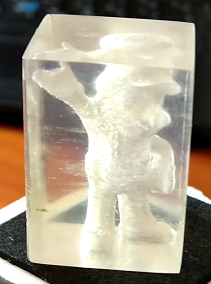 """Frozen"" Mario, made on an FFF 3D printer. Photo via Fenneclabs"