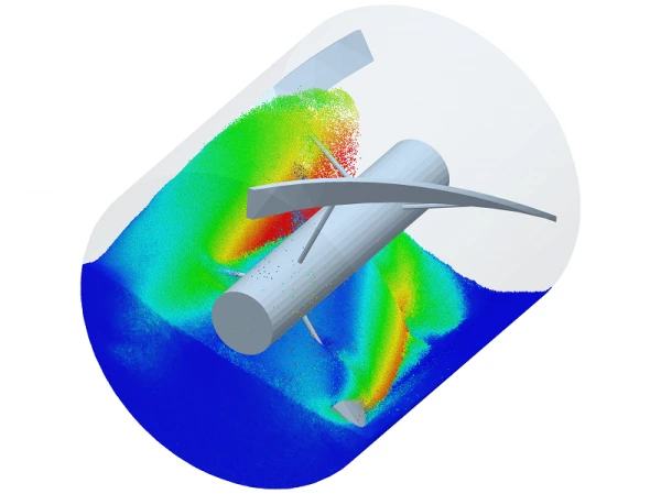 A simulation in the EDEM software. Image via EDEM.