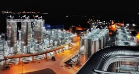 Total Corbion PLA's new 75,000 tons per year PLA plant in Rayong, Thailand, operating 24/7