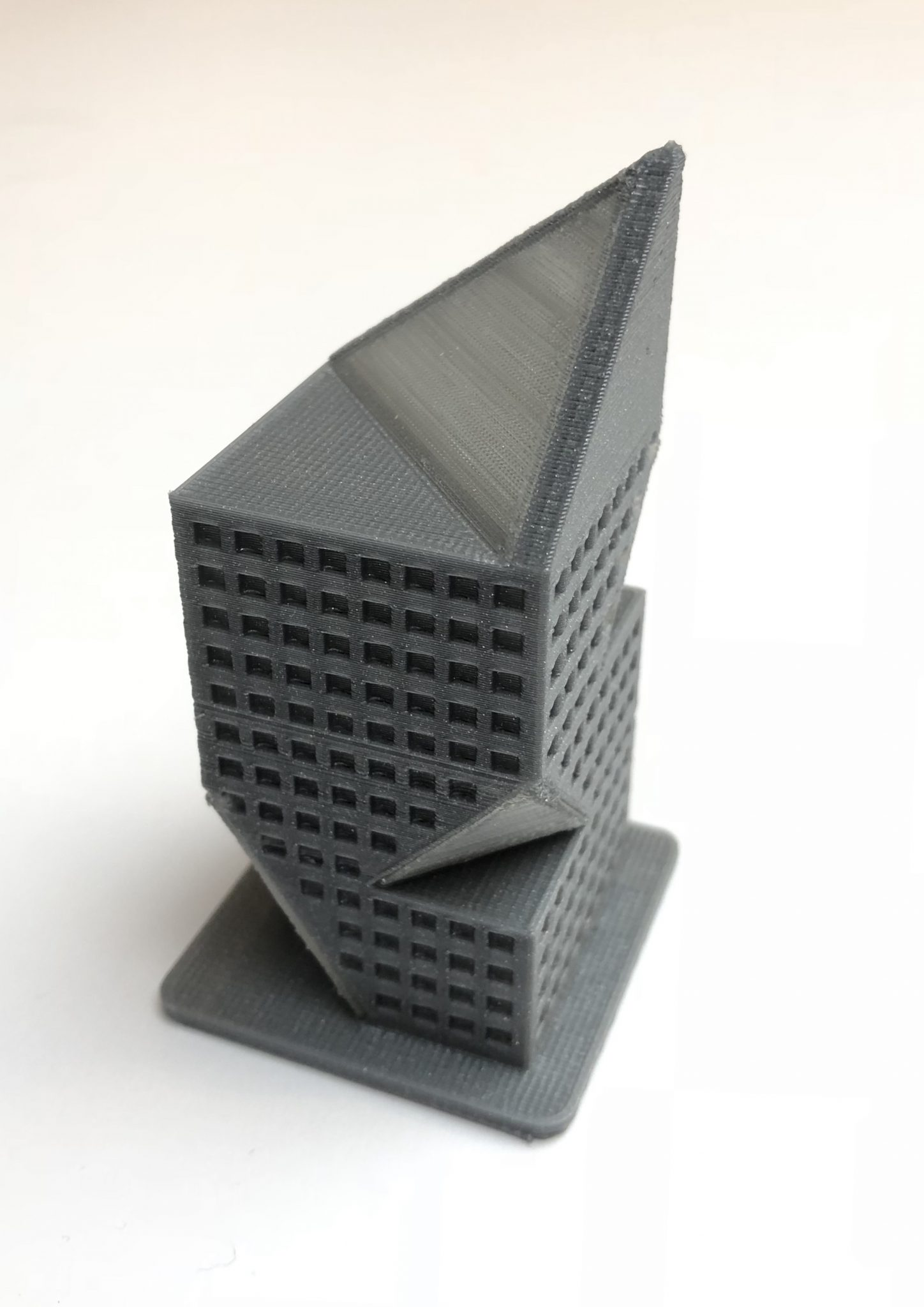 3D printed architectural model printed on the ZMorph VX. Photo via ZMorph
