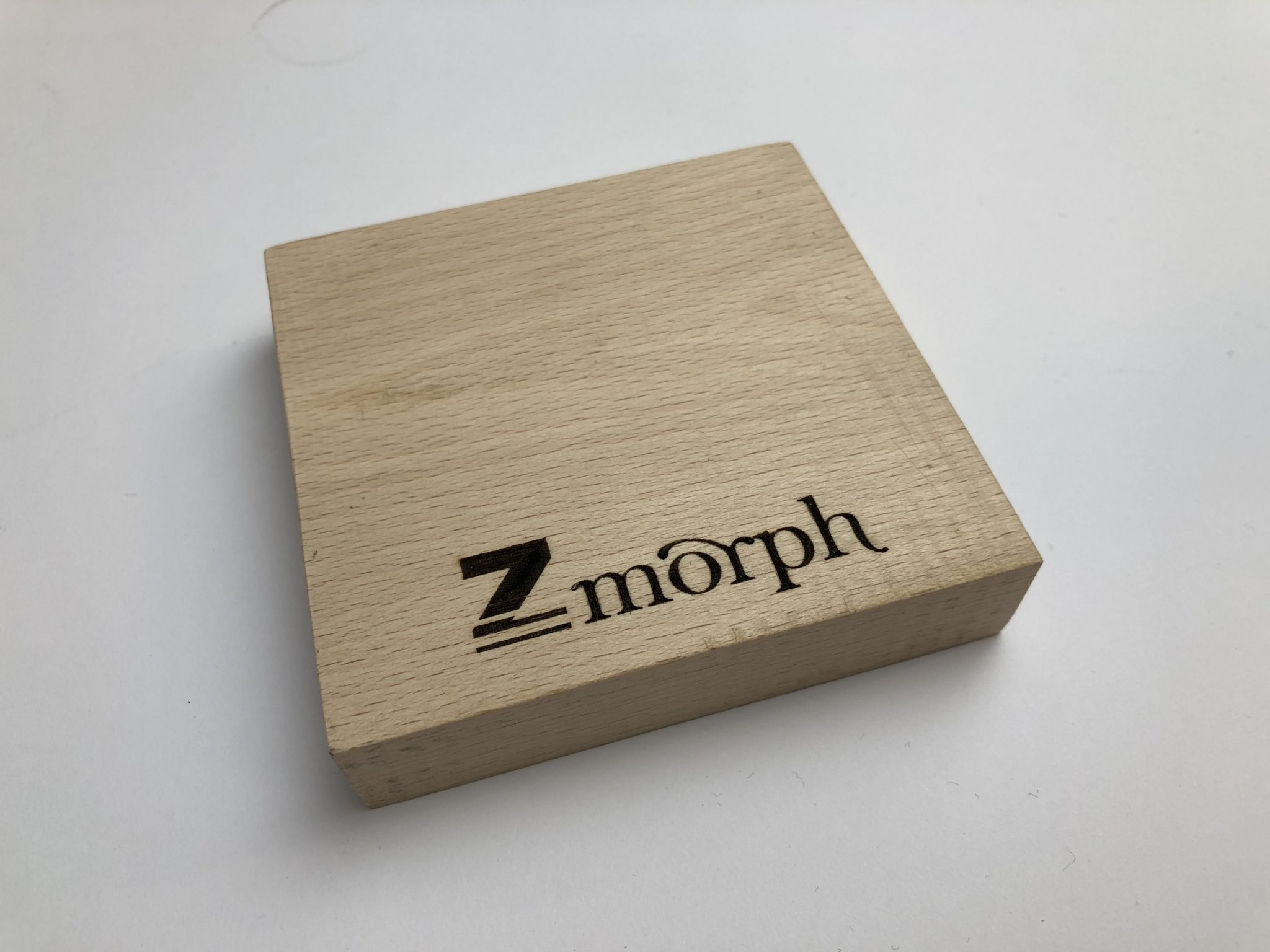 Laser engraving test on the ZMoph VX. Photo via ZMorph