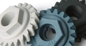 3D printed gears made from Fillamentum ASA. Photo via Fillamentum
