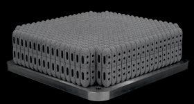 More than 800 posterior lumbar cages 3D printed using a Renishaw RenAM 500Q. Image via Betatype.