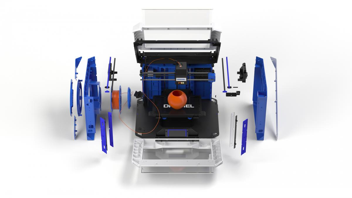 The Dremel DigiLab 3D40 FLEX 3D Printer. Photo via Dremel.