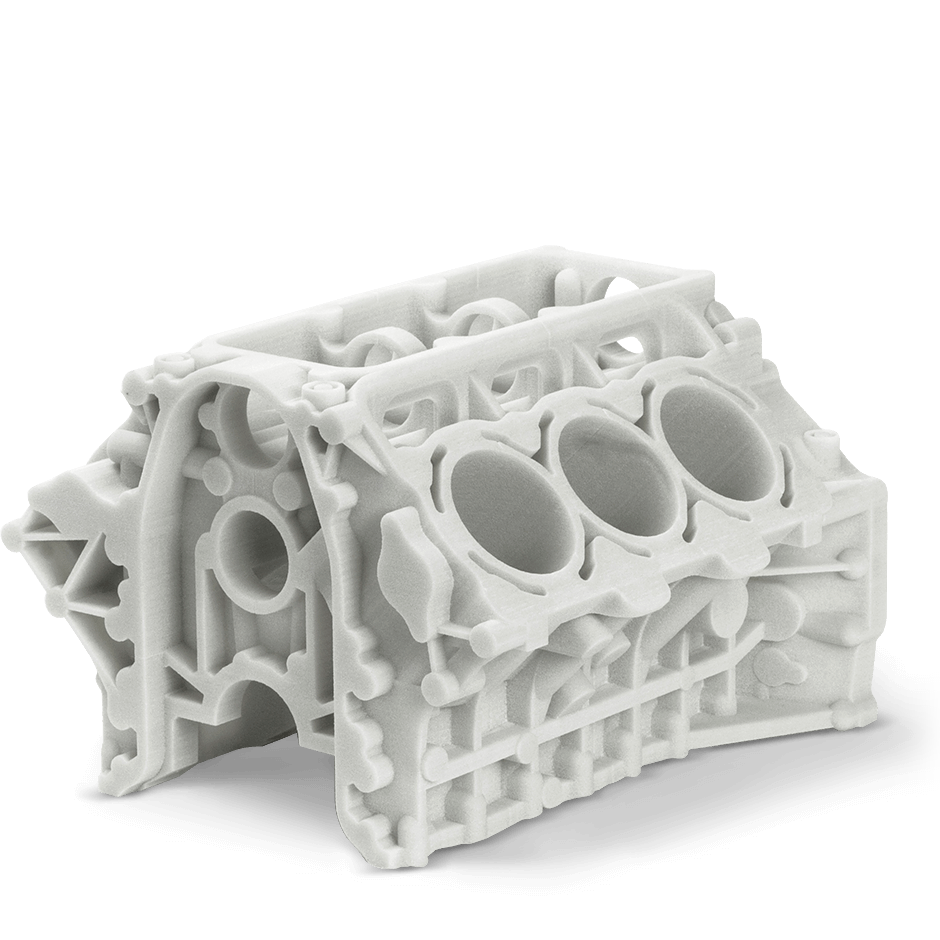 An SLS part made by the Manufacturing Source. Image via Manufacturing Source.