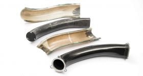 Carbon fiber pipes molded at Dash-CAE. Photo via Dash-CAE