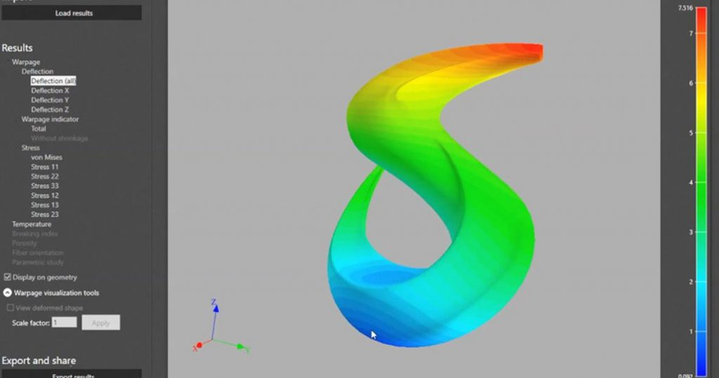 Solvay material parameter simulation in Digimat-AM platform. Image via Solvay