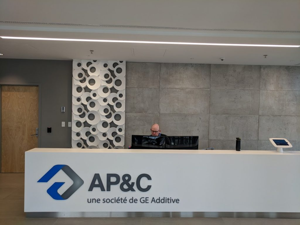 Inside AP&C's existing facility in Saint-Eustache. Photo by Michael Petch