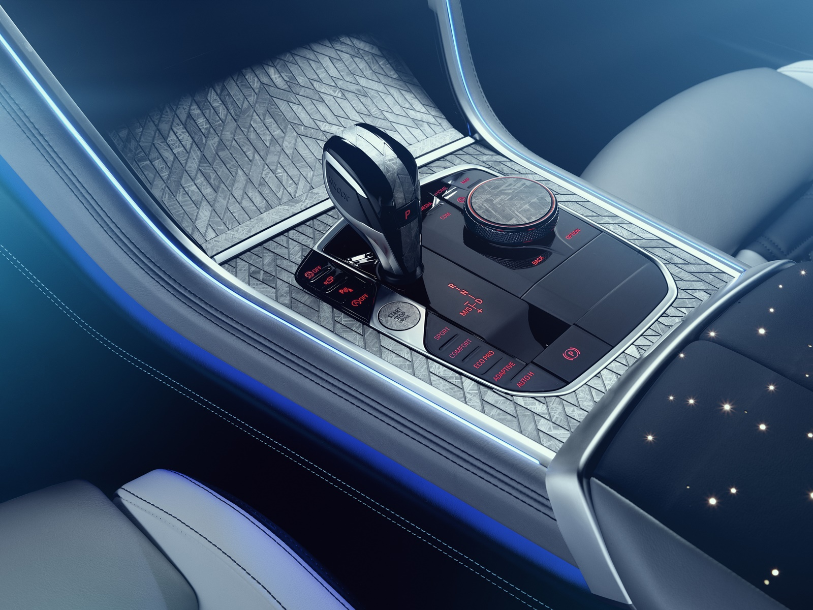 The BMW Individual M850i Night Sky interior. Photo via BMW Group.
