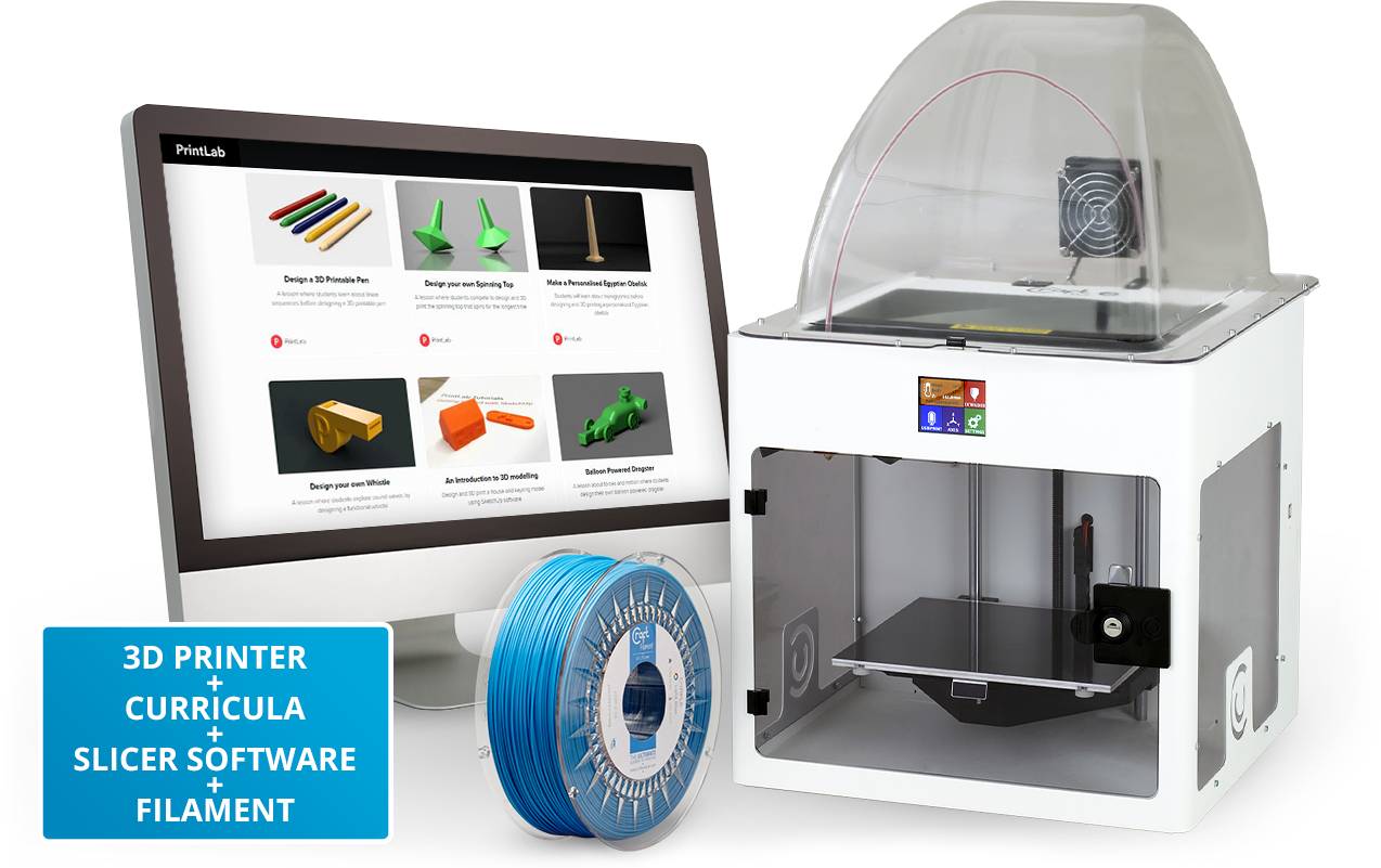 The CraftBot-PrintLab EDU Bundle. Image via PrintLab.