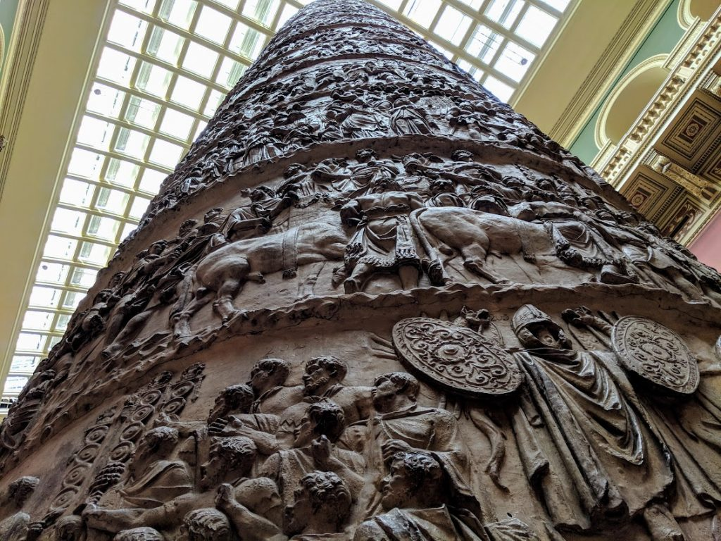 Detail on the cast of Trajan's Column. Photo by Michael Petch.