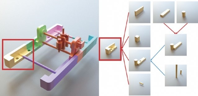 Breaking a 3D model into simpler forms. Image via MIT.