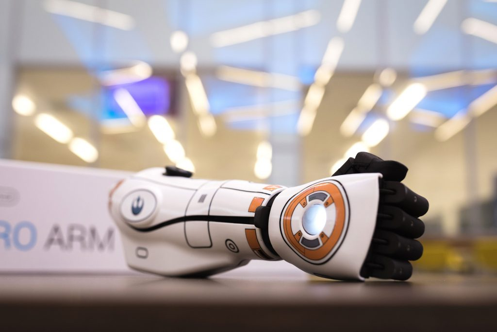 A BB8-style Hero Arm. Photo via Open Bionics