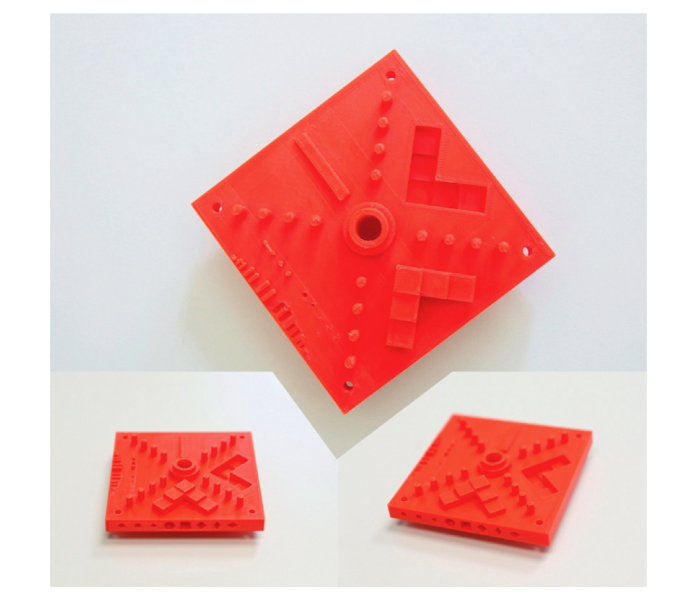 The test object 3D printed in the study. Image via Elsevier.