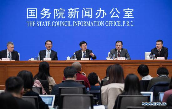 CNSA officials at the press conference for the State Council Information Office (SCIO).Photo via ECNS.