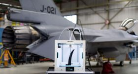 The Ultimaker 5 at Royal Netherland Air Force's Woensdrecht Air Base. Image via Ultimaker.