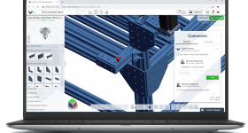 The MachineBuilder 3D software. Image via Vention.