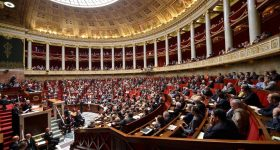 Inside the French National Assembly. Photo via Assemblée Nationale