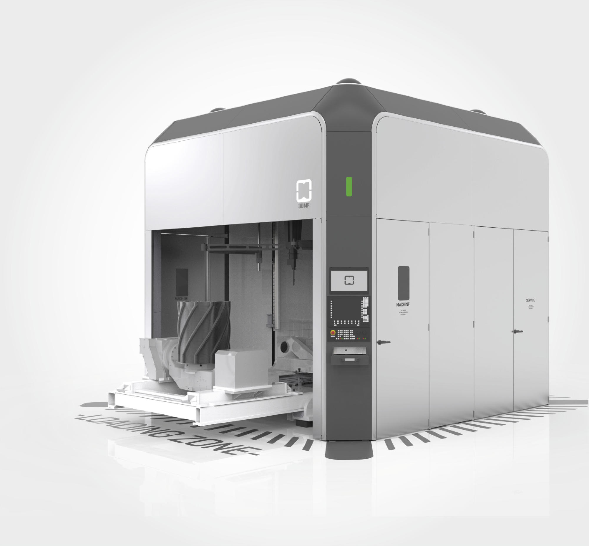 The arc605 3D printer. Image via GEFERTEC.