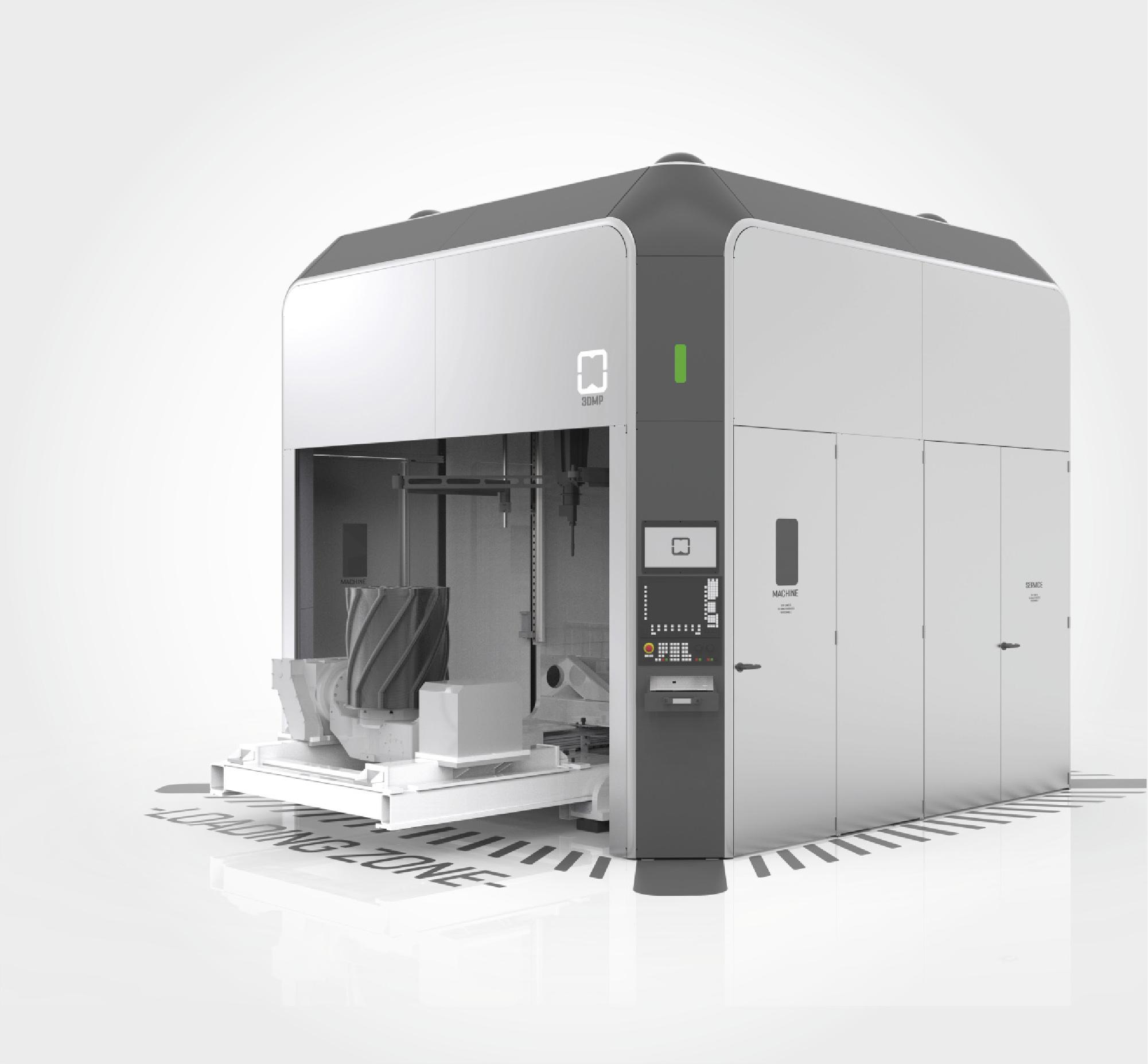 The arc605 3D printer. Image via GEFERTEC.