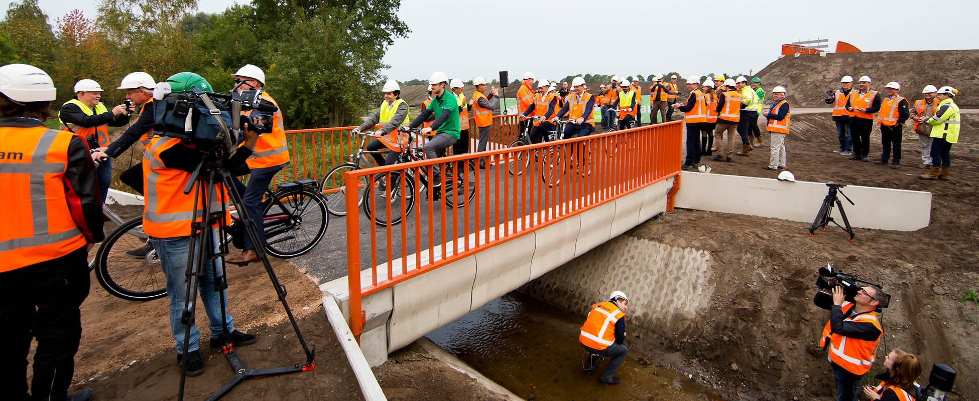 First 3D printed bicycle bridge in Noord-Brabant, created by BAM Infra and Eindhoven University of Technology. Photo via BAM Infra.