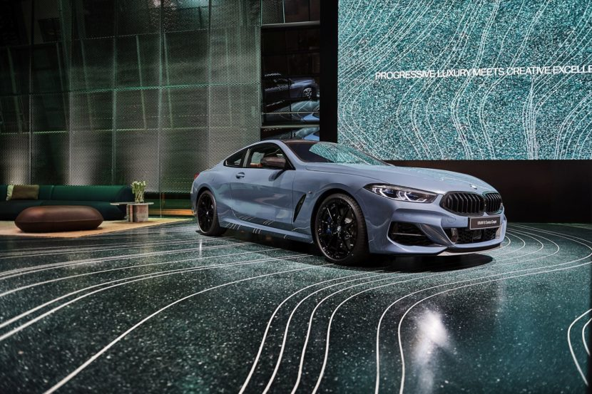 Patricia Urquiola custom-designed floors, 3D printed via Aectual. Photo via BMW.