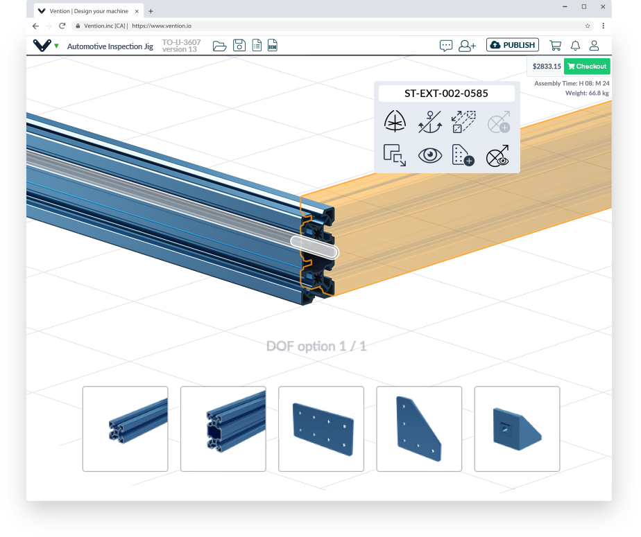 The MachineBuilder3D software .Image via Vention.