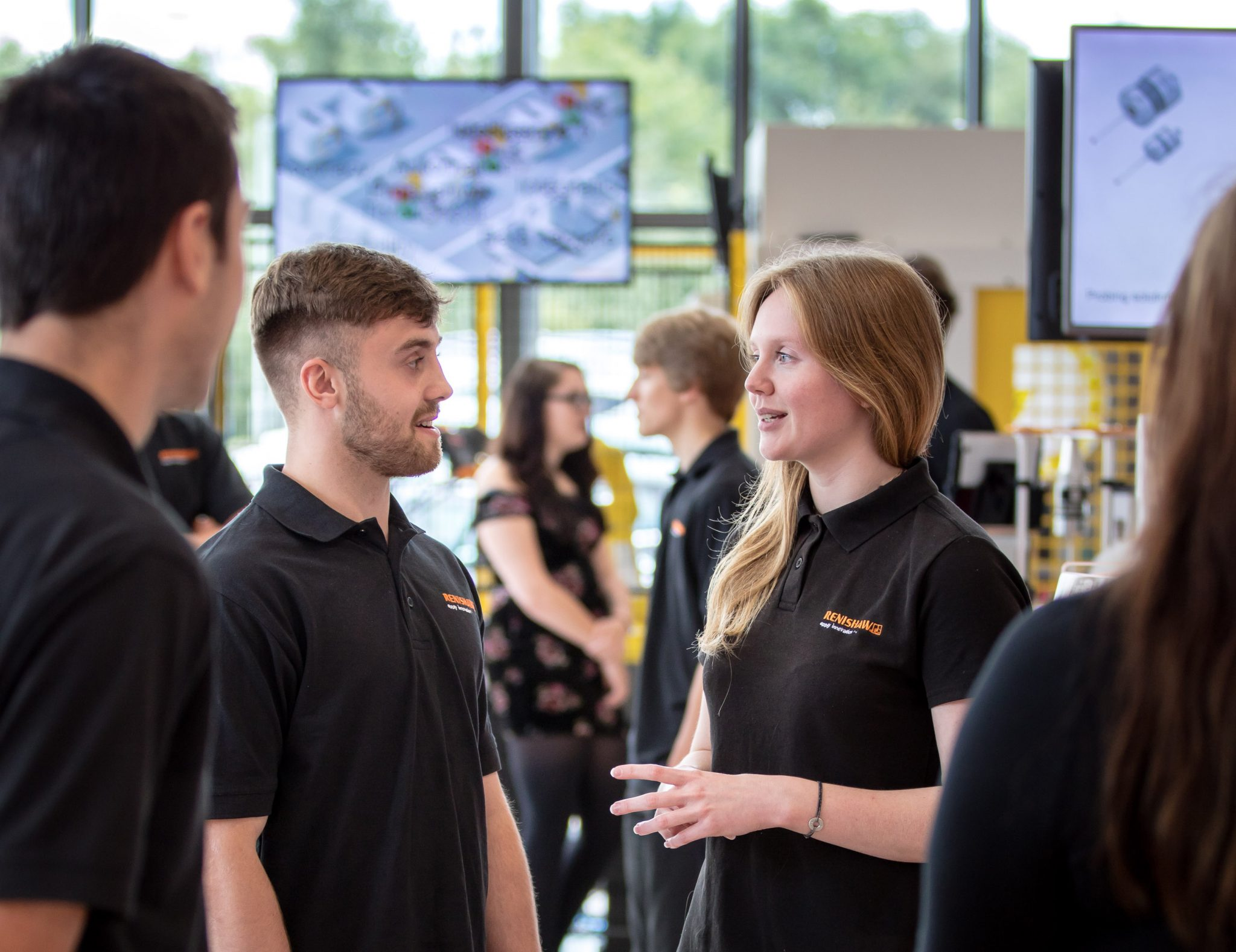 Renishaw apprentices 2018 at the event. Image via Renishaw