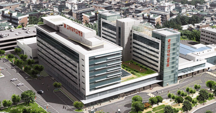The Korea University Guro Hospital (KUGH). Photo via KUGH.