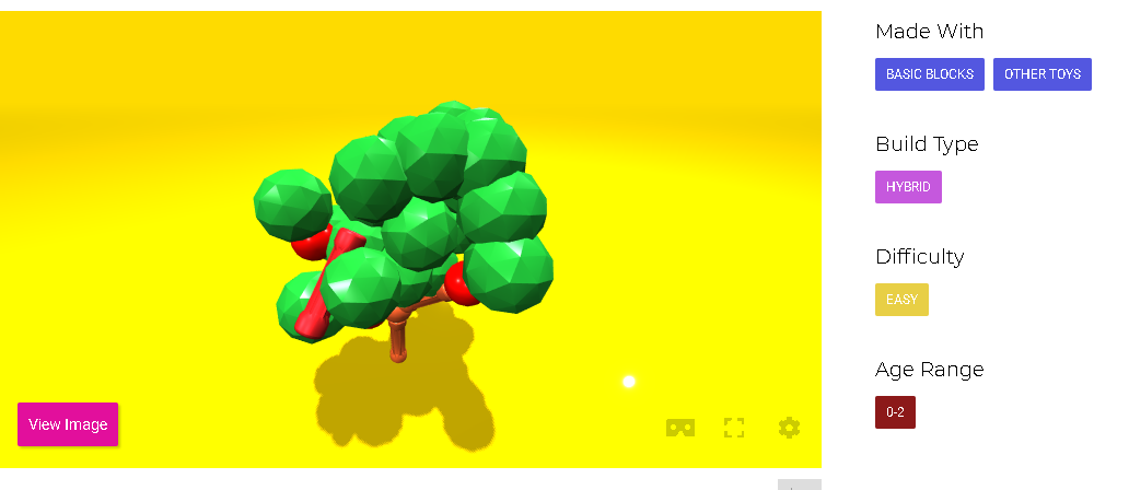 A design for a 3D printed tree on MakerBrane. Photo via MakerBrane.