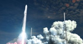 Relativity Space's Terran rocket  launching from Cape Canaveral's LC-16 launchpad.