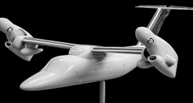 3D printed external body of 2019 AW609 tiltrotor prototype. Photo via CRP Technology.