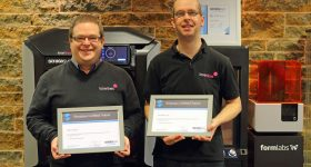 Training certificates from the Stratasys Academy. Photo via Laser Lines.