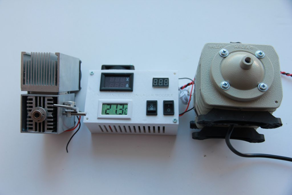 An Endurance 10 watt laser and new attachment. Photo via Endurance