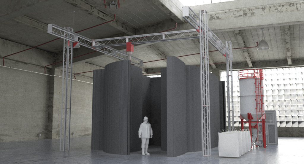 A BOD2-353 construction 3D printer by COBOD. Image via COBOD.