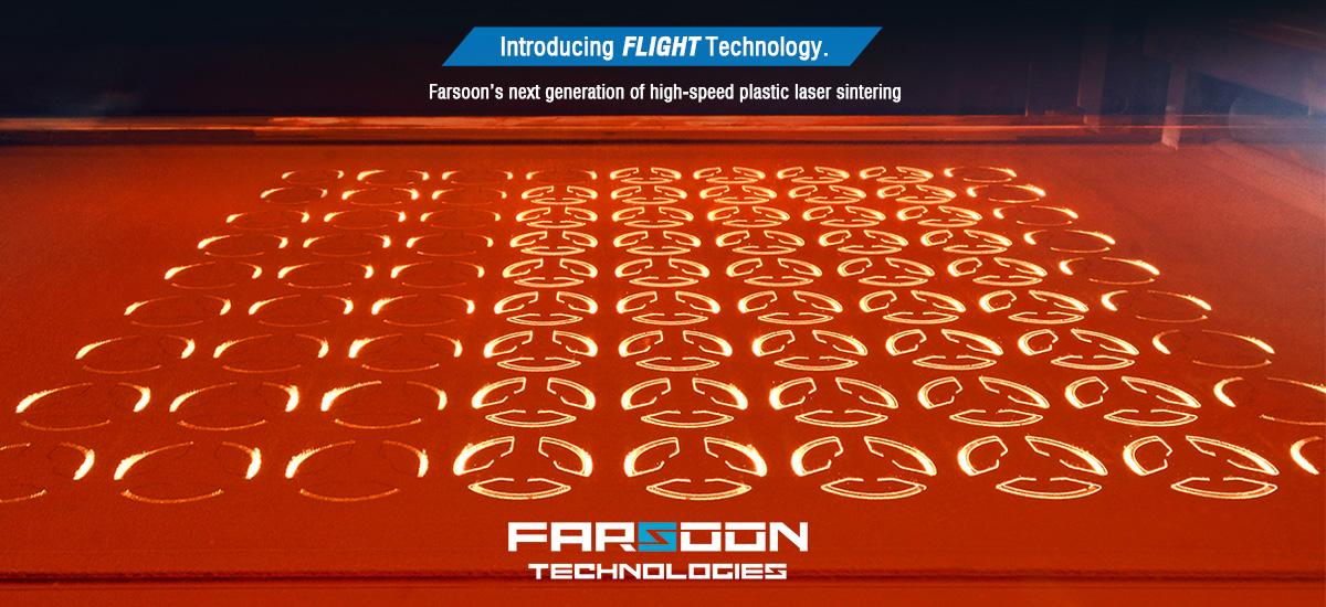 The Flight Technology. process. Photo via Farsoon Technologies.