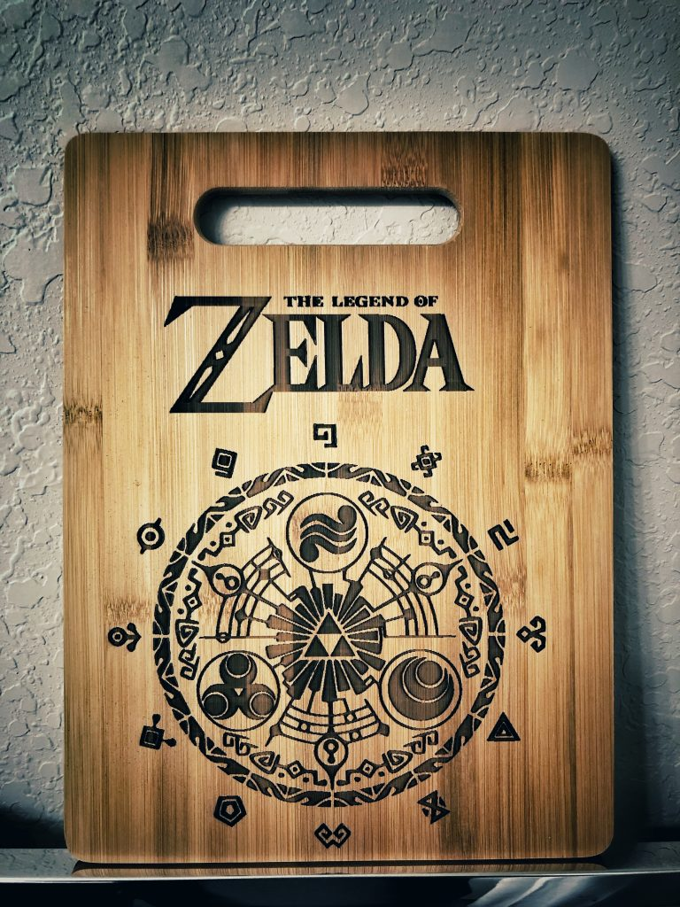 """The """"Cutting Board of Time"""" personalized using an Endurance laser. Photo via Endurance"""