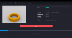 Direct 3D printers control from Authentise's platform. Image via Authentise.