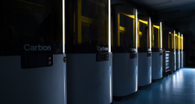 A lab of Carbon L1 3D printers. Photo via Carbon