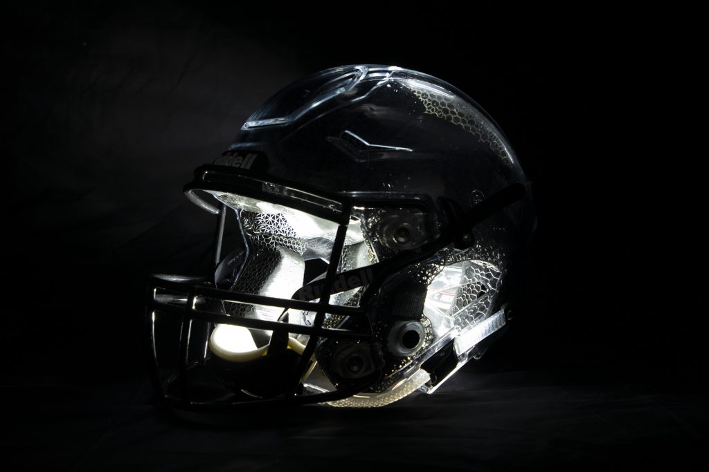 The Riddell SpeedFlex Precision Diamond helmet lining with back-lit Precision-Fit lining. Image via Carbon