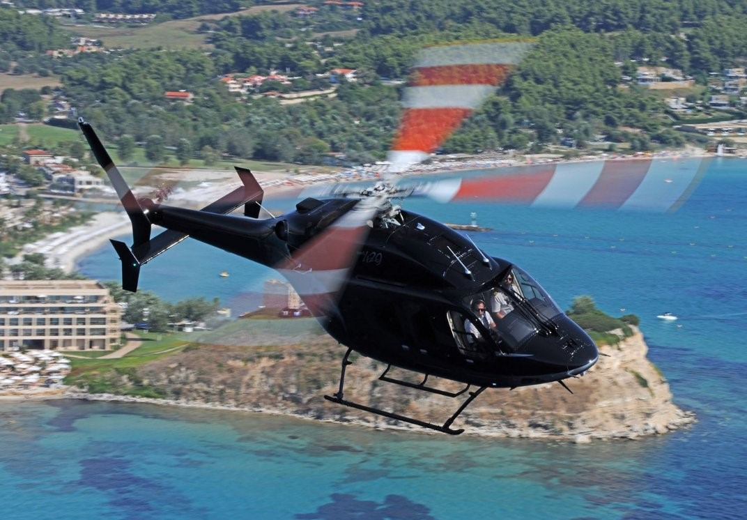 A Bell helicopter in flight. Photo via Bell.