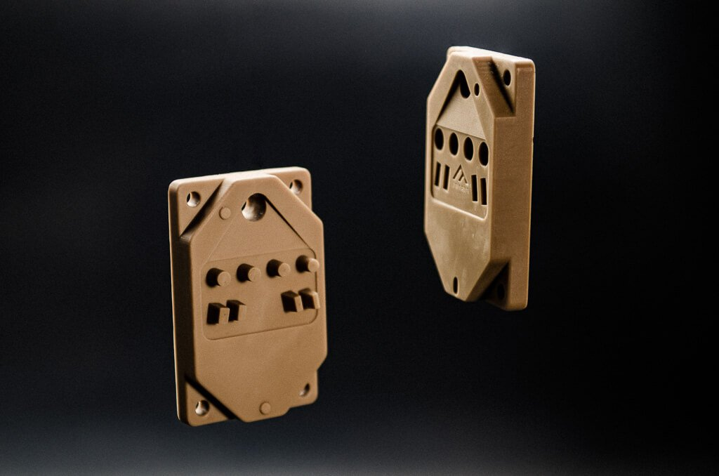 A 3D printed sample from Fortify with Digital Composite Manufacturing (DCM). Image via Fortify.