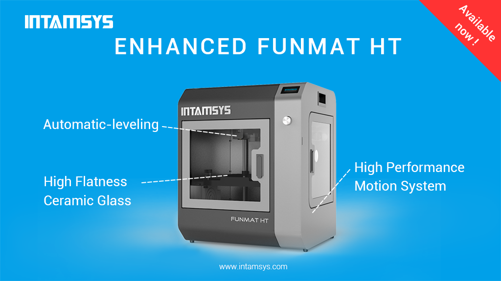 Features of the Enhanced FUNMAT HT 3D printer. Image via INTAMSYS.