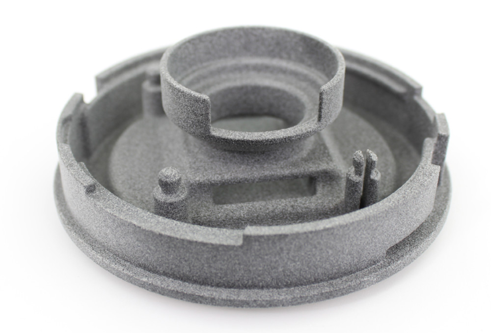 A 3D printed part created using HP's Multi Jet Fusion 3D printer. Photo via Fast Radius.