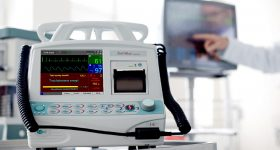 An EMTEL DefiMax defibrillator. Photo via EMTEL