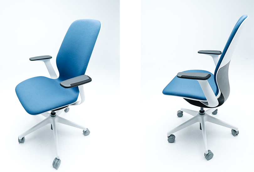 Steelcase's SLIQ chair manufactured in collaboration with Fast Radius and Carbon. Image via Fast Radius.